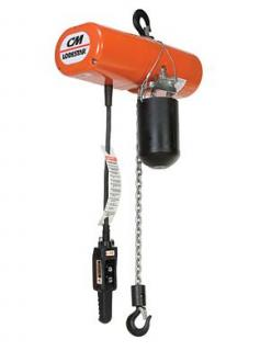 Lodestar Electric Chain Hoist, 3 Ton, 1-Speed, 20' Lift, 5.5 FPM, Less mount, 230/460-3-60, 3 reeve