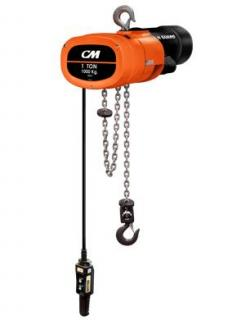 Columbus McKinnon Corporation MG251610RH4 CM Man Guard Electric Chain Hoist, 1/4 Ton, VFD, 10' Lift, 16 FPM, Rigid Hook mount, 460-3-60, 1 reeve