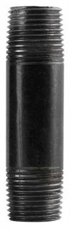 """Commercial Pipe and Supply 14312PN 1/4"""" X 3-1/2""""  Black Pipe Nipple"""