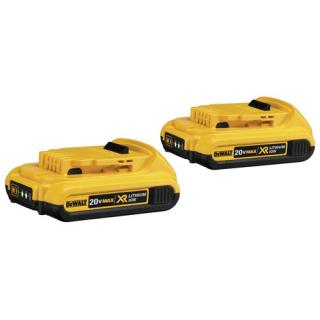 DeWalt DCB203-2 20V MAX* Compact XR Lithium Ion Batteries 2-Pack
