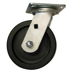 "EZ ROLL 6"" Swivel Polyolefin Medium Heavy Duty Caster"