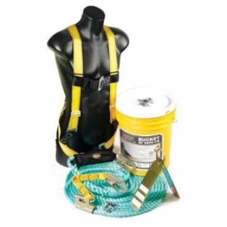 Guardian Fall Protection 00830 Bucket of Safe-Tie w/ Stainless Steel Reusable Anchors, VLA-25', and 5 Gallon Bucket