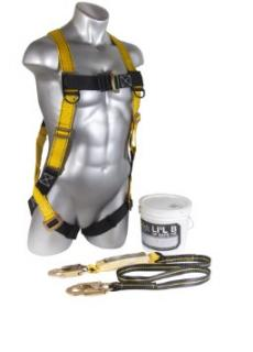 Guardian Fall Protection 00870 Lil' Bucket of Safe-Tie w/ 6' Single Leg Lanyard, Nylon Bad, and 1 Gallon Bucket