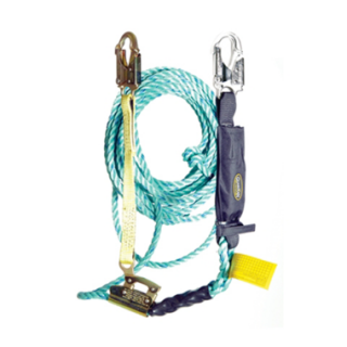 Guardian Fall Protection 01310 Poly Steel Rope Vertical Lifeline Assembly (25')