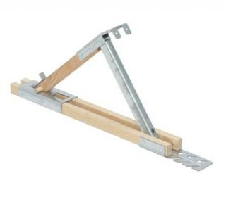 "Guardian Fall Protection 2502 6"" x 45° HD Fixed Roof Bracket for 2 x 6 planks"