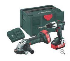 18 Volt Combo Set - Angle Grinder and Impact Drill