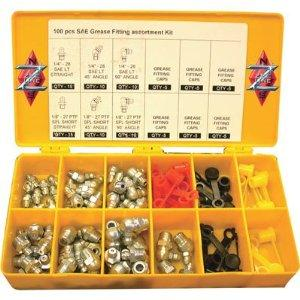 Plews 11-953 Grease Fitting Assortment,100 Pc