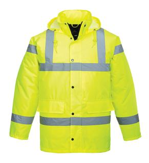 Hi-Vis Traffic Jacket, Yellow Small