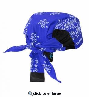 "HEADGEAR,COOLING ""ARCTIC SKULL"" BANDANA BLUE"