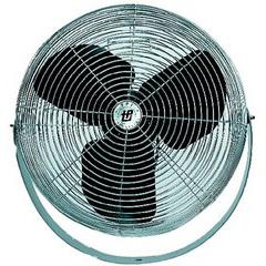 "Workstation Fan, Mountable, Single Phase, 18"" Diameter, 120 Volt"