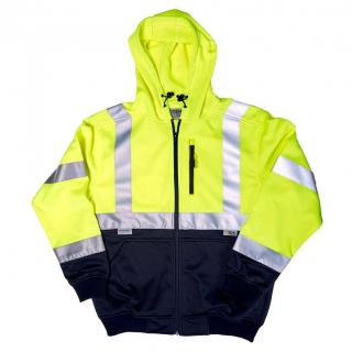 Sweatshirt - Large ANSI Hi-Viz Yellow Xtreme-Tech Hoodie
