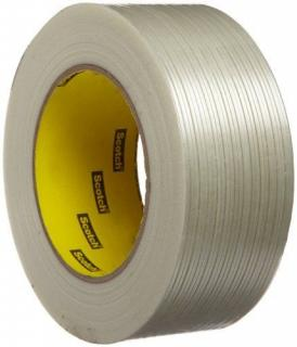 """3M 2Ft Strapping/Filament Tape 2"""" X 60Yds."""