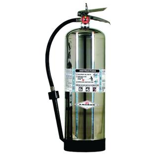 AFFF Foam Extinguisher, 2.5 Gal, Brass Valve, Wall Bracket