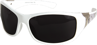 "Edge Eyewear YC146-A2 Ladies ""Aurora"" White Zebra Smoke Lens Safety Glasses"