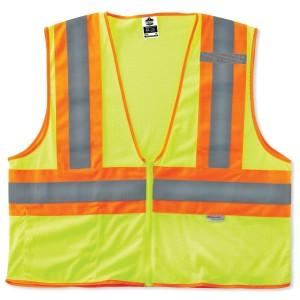 Ergodyne Corp. 21325 GloWear® 8230Z Type R Class 2 Two-Tone Vest, L/XL, Lime