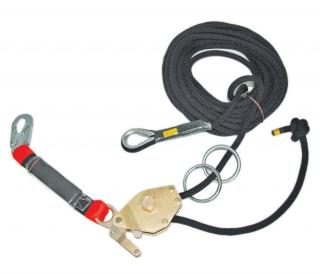 Guardian Fall Protection 04639 60' Kernmantle Rope Horizontal Lifeline System w/ Tensioner, (2) O-rings, Web Slings, 01813-S
