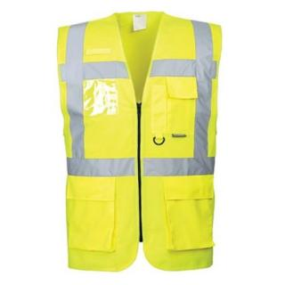 Portwest Berlin Executive Hi-Vis Vest, Yellow XLarge