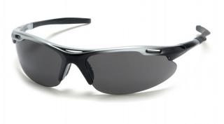 Avante Safety Glasses - Gray Lens Silver/Black Frame