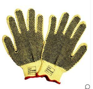 Safety First 3075 L Kevlar Knit Gloves With PVC Dots, Large (1Dozen)