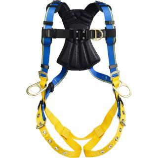 Blue Armor 2000 Climbing/Positioning Harness, Tongue Buckle Legs, Medium/Large